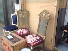 Ex film prop chairs French style,ideal restoration project