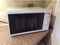 White Tesco Microwave