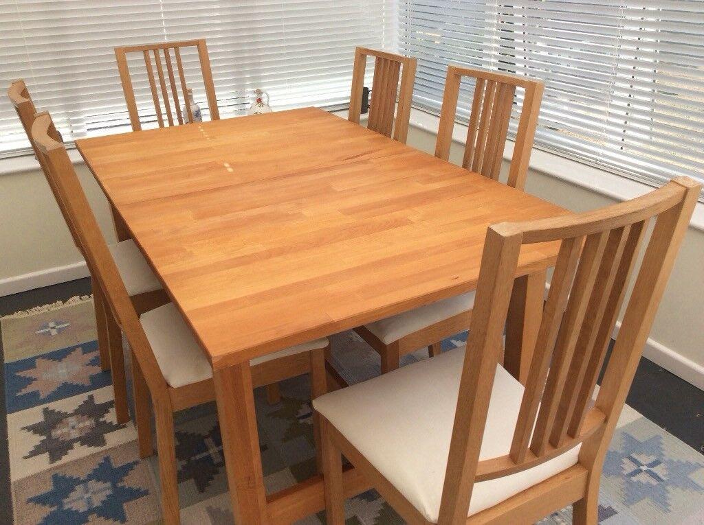 Fine Beech Dining Table And 6 Chairs In Pennington Hampshire Gumtree Customarchery Wood Chair Design Ideas Customarcherynet