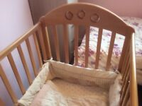Wooden Cot in excellent condition