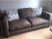 Two DFS Seater fabric sofas for sale (1) 3 SEATER (2) 2 SEATER