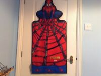 Spiderman room tidy and bin