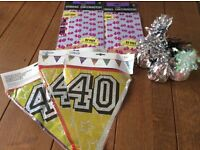 40th birthday bunting / decorations