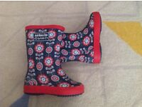 Toddler girl wellies, Jo Jo Maman Bebe. Size 6. Great condition