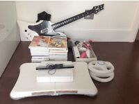 Nintendo Wii plus accessories and games