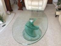 Pratt's solid glass table