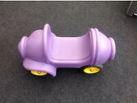 Wesco purple sit on car