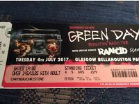 Green Day ticket for sale