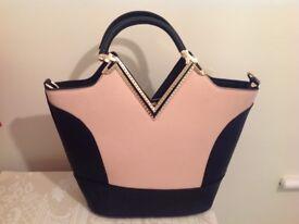 Two tone handbag