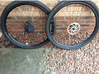 27.5 bike wheels,tyres,shimano cassette.tektro roters