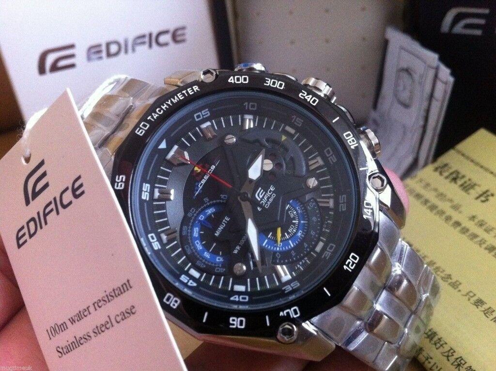 14b9177ae8c3 Casio Edifice Red Bull F1 - EF-550RBSP-1AV Chronograph Black Dial