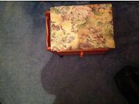 Tapestry foot stool