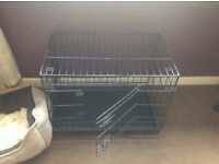 Medium black dog crate for sale