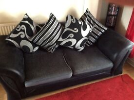 Black and grey Dylan two seater sofa