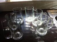 6 heavy bottom,Glass tankard beer glasses