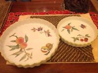 2 Royal Worcester pie dishes