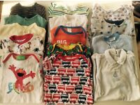 14x 3-6 month Baby Sleepsuits/Baby Grows/all in ones