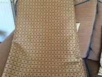 Brown mix curtains 328 width x 208 depth