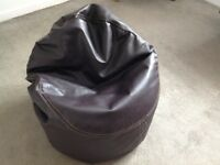 Faux Leather Bean Bag. £10