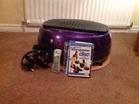 Vibrapower disc 3 step workout inc remote control DVD and resistance bands