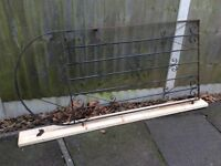 FULL HEIGHT BLACK METAL GARDEN SIDE ACCESS GATE