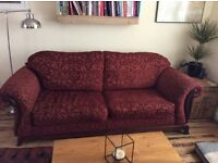 Comfy 3 seater sofa and arm chair in good condition