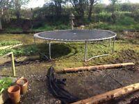 Large trampoline needs dismantling and taken away