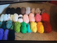 Job lot of mixed double knitting wool