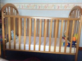 Mamas and Papas Cot with mattress which was hardly used.