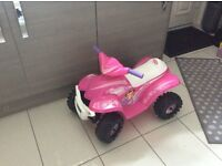 Pink electric ride on car - excellent condition