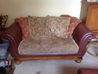 Chesterfield part leather sofa