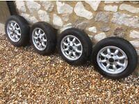"""4 Rover Mini Cooper wheels. 12 X 4"""". Off 1991 mini."""