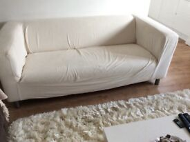 White ikea 2 seater sofa