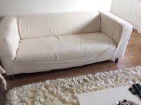 White ikea 2 seater sofa
