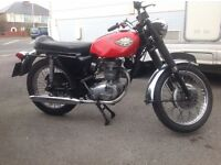 Entry level classsic motorcycle. BSA Starfire