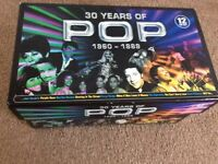 30 years of pop cd set, new and sealed 12 cd