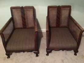 Berger chairs x 2