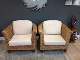 Conservatory Furniture consisting 1 two seater sofa and 2armchairs.