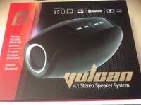 Damson Vulcan Wireless Portable Bluetooth Speaker. Brand New