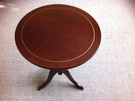 """Repro tripod dark mahogany hard wood Queen Anne 0ccasional /side table 25""""high x18"""