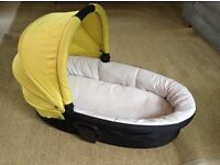 Mamas and Papas Zoom lime carrycot and buggy