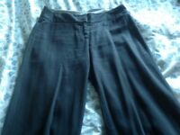 Casual blue cotton trousers size 14