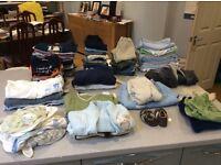 Baby boy clothes bundle 6 - 9 months. 114 items