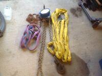 Lifting slings, 2 ton chain block