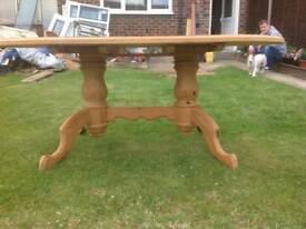 Ovel farm house dining table