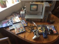 PS2 PlayStation 2 with LCD Screen + games/speakers etc.