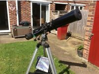 Helios Telescope with equatorial motor and lenses