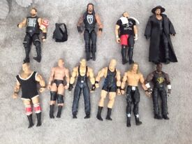 10 ELITE WWE Wrestling figures good condition