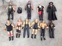 10 ELITE WWE Wrestling figures good condition