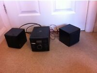 Black CD and radio Stereo system *USED BUT IN GOOD CONDITION* FREE DELIVERY -price negotiable